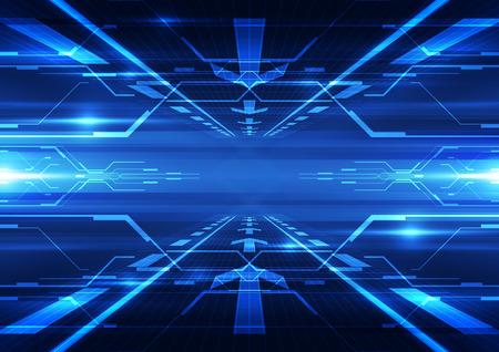Photo pour abstract vector future technology telecom background illustration - image libre de droit