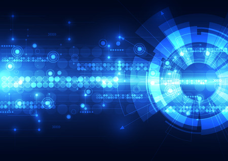 Photo for Abstract futuristic digital technology background. - Royalty Free Image
