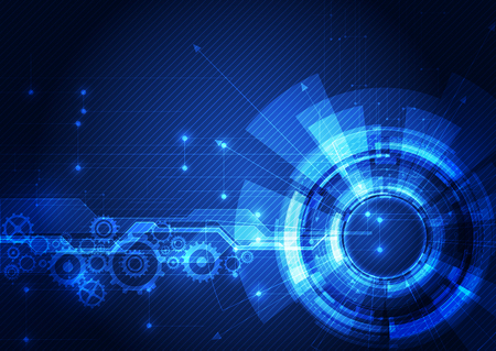 Illustration pour Abstract futuristic digital technology background. Illustration Vector - image libre de droit