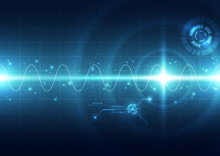 Photo pour Abstract futuristic digital technology background. Illustration Vector - image libre de droit