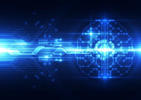 Illustration pour Abstract electric digital brain,technology concept - image libre de droit