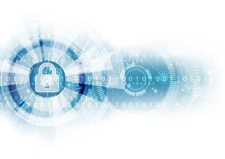 Illustration pour Abstract security digital technology background. Illustration Vector - image libre de droit