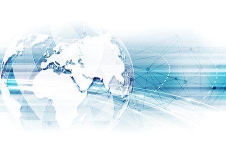 Illustration pour vector digital global technology concept, abstract background - image libre de droit