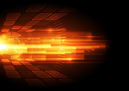 Photo for vector digital speed technology concept, abstract background - Royalty Free Image