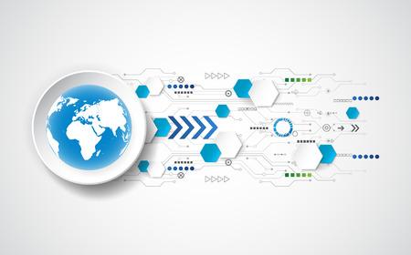 Photo pour Abstract future technology concept background, vector illustration - image libre de droit
