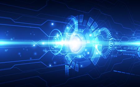 Photo pour Abstract futuristic digital technology - image libre de droit