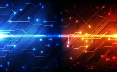 Illustration pour Digital circuit technology concept, abstract - image libre de droit