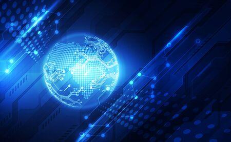 Photo pour Digital global technology concept, abstract - image libre de droit