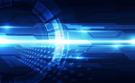 Illustration pour Future digital speed technology concept - image libre de droit