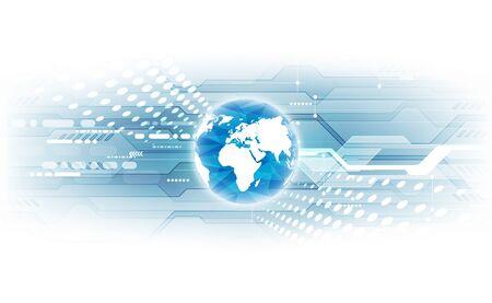 Illustration pour Digital global technology concept, abstract - image libre de droit
