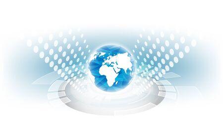 Illustration for Digital global technology concept - Royalty Free Image