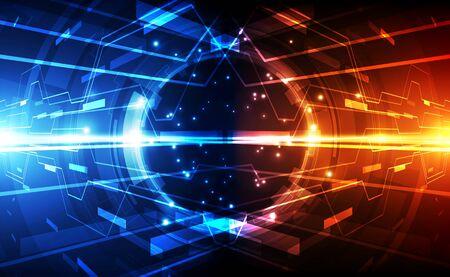 Illustration pour Abstract futuristic digital technology - image libre de droit