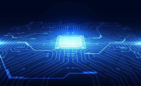 Photo pour Vector graphics. chip processor speed technology background. vector illustration - image libre de droit
