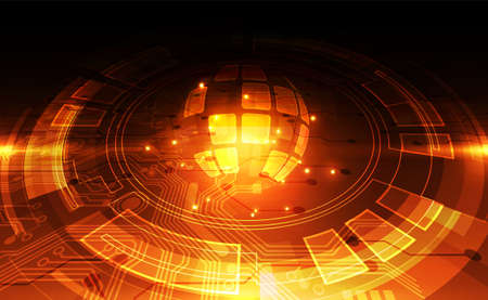 Foto für vector digital global technology concept, abstract background - Lizenzfreies Bild