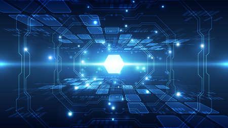 Illustration pour Abstract futuristic connection high speed digital technology concept. - image libre de droit