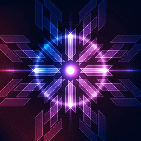 Ilustración de Abstract futuristic digital technology - Imagen libre de derechos