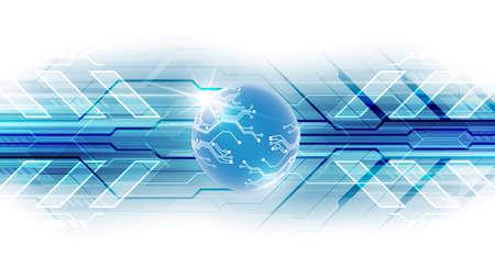Photo pour Digital global technology concept - image libre de droit