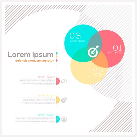 Circle Shape Abstract Design Layout