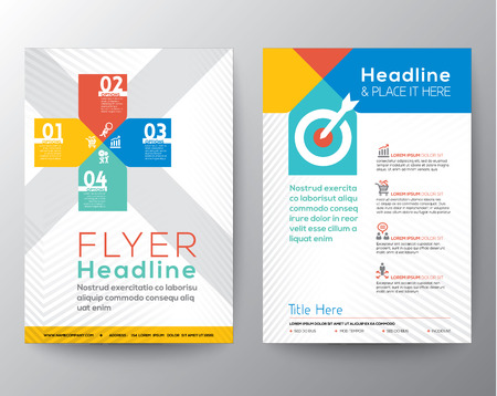 Brochure Flyer graphic design Layout vector template in A4 size