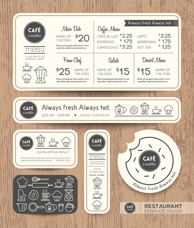 Restaurant Cafe Set Menu Graphic Design Template layout