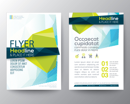 Ilustración de Abstract low polygon background for Poster Brochure design Layout template in A4 size - Imagen libre de derechos