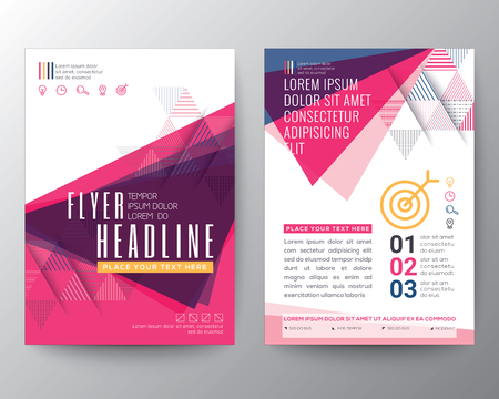 Ilustración de Abstract Triangle shape Poster Brochure design Layout template in A4 size - Imagen libre de derechos