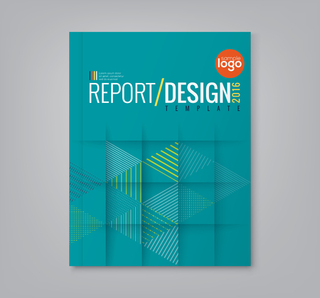 Illustration for Abstract minimal geometric triangle shapes design background for business annual report book cover brochure poster - Royalty Free Image