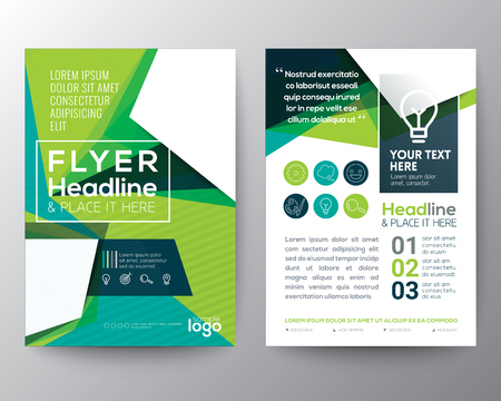 Illustration pour Abstract Triangle shape Poster Brochure Flyer design Layout vector template in A4 size - image libre de droit