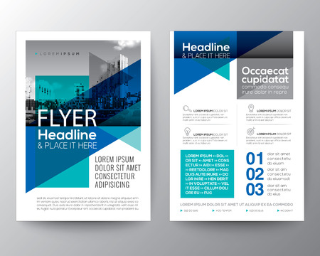 Ilustración de Abstract Blue geometric background for Poster Brochure Flyer design Layout vector template in A4 size - Imagen libre de derechos