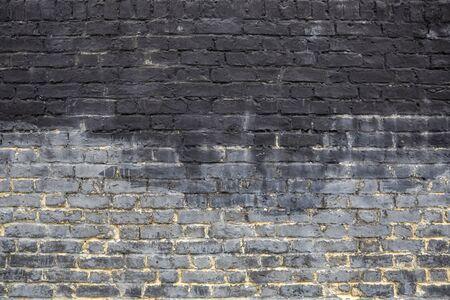 Photo pour Old grey brick wall background texture close up. - image libre de droit