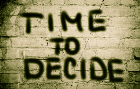Time To Decide Concept