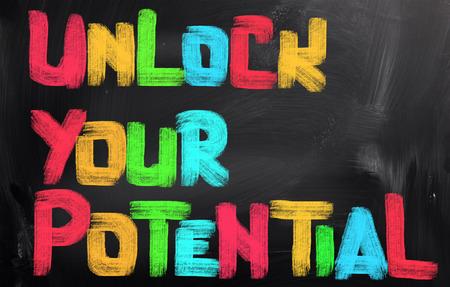Photo pour Unlock Your Potential Concept - image libre de droit