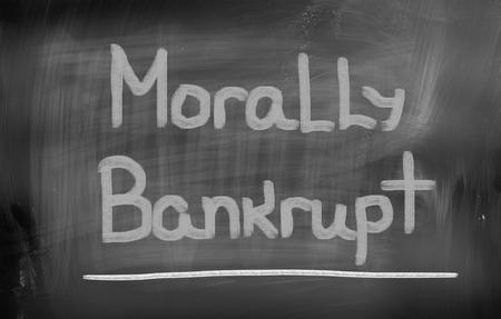 Morally Bankrupt Concept
