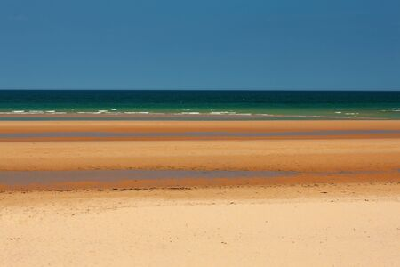 Photo for Omaha Beach, Easy Red sector outside Colleville-sur-Mer, Normandy, France - Royalty Free Image