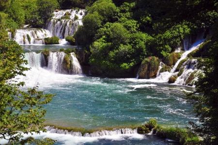 cascade of Krka waterfalls
