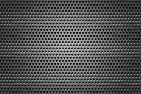 Metal Grid circles gray texture