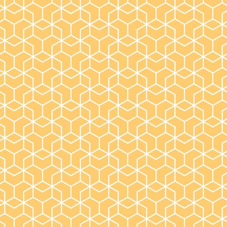 Illustration for Cover template design with orange and white geometric pattern. Seamless background. - Royalty Free Image