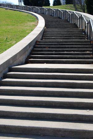 steps up the hillside