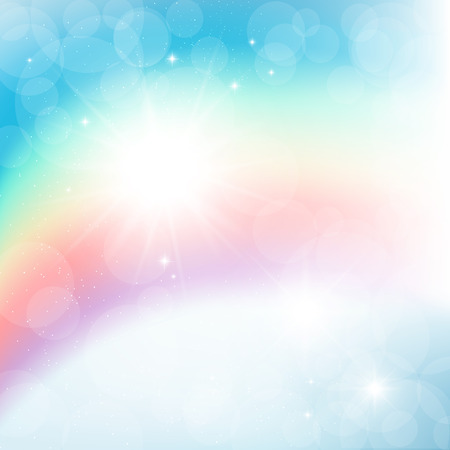 Abstract Rainbow Rays Wall Mural