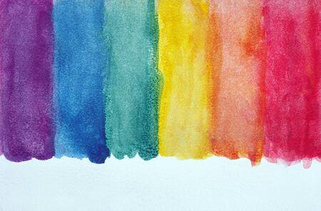 Photo pour Colors of rainbow. Photo watercolor paper texture. Abstract watercolor background. Wet watercolor paper texture background. abstract colorful pattern. multicolored watercolor stains. - image libre de droit
