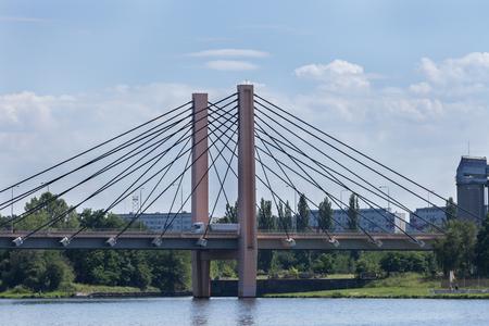 Milenijny bridge over the Oder Wroclaw
