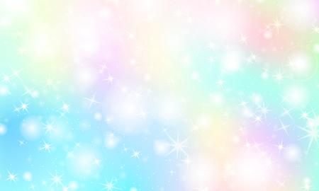 Illustration pour Rainbow mermaid background. Unicorn pattern. Color princess background. Christmas rainbow backdrop. Vector illustration. - image libre de droit