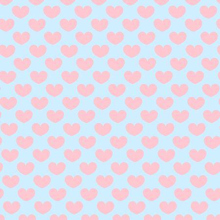 Illustration pour Hearts pattern. Valentine day design. Pink, blue colors. Love day. Vector. - image libre de droit