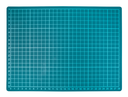 Foto de green cutting mat isolated on white background - Imagen libre de derechos