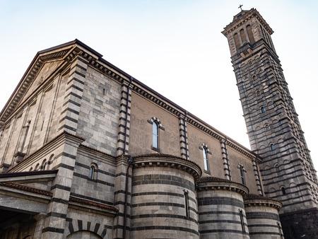 Travel to Italy - church Santuario di Nostra Signora della Vittoria in Lecco city, Lombardy