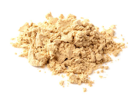 Photo pour pile of ginger powder closeup on white background - image libre de droit