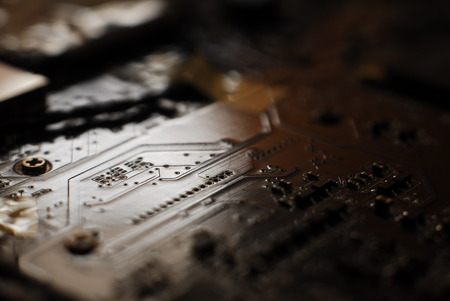 Electronics integrated circuit-  impression background