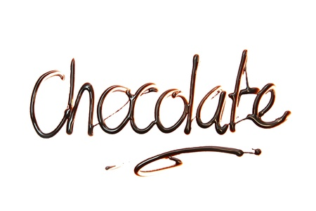 chocolate  Just for you text made of chocolate design element.