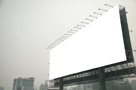 Blank billboard  on city