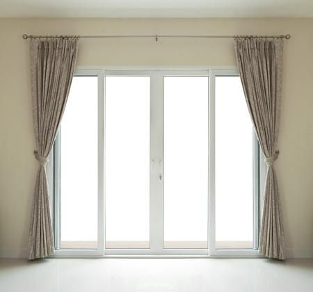 Foto de window door close on white background  - Imagen libre de derechos